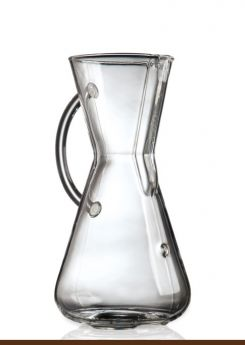 CHEMEX Three Cup Glass Handle Coffeemaker