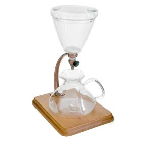 Silverton Coffee Dripper with Stainless filter Brown Wood and Copper Accent
