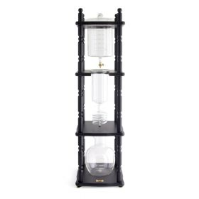 Yama 25 Cup Cold Drip Maker with Wooden Frame -Curved Black Wood Frame