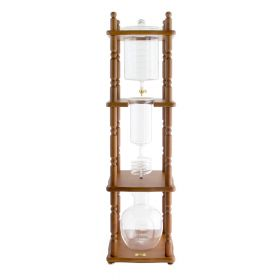 Yama 25 Cup Cold Drip Maker with Wooden Frame -Curved Brown Wood Frame