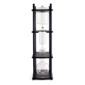 Yama 25 Cup Cold Drip Maker with Wooden Frame -Straight Black Wood Frame