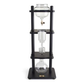 Yama 6-8 Cup Cold Drip Maker with Wooden Frame -Straight Black Wood Frame